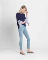 Classic sculpting jeans antique bleach side ivanka trump