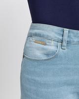 Classic sculpting jeans antique bleach detail ivanka trump