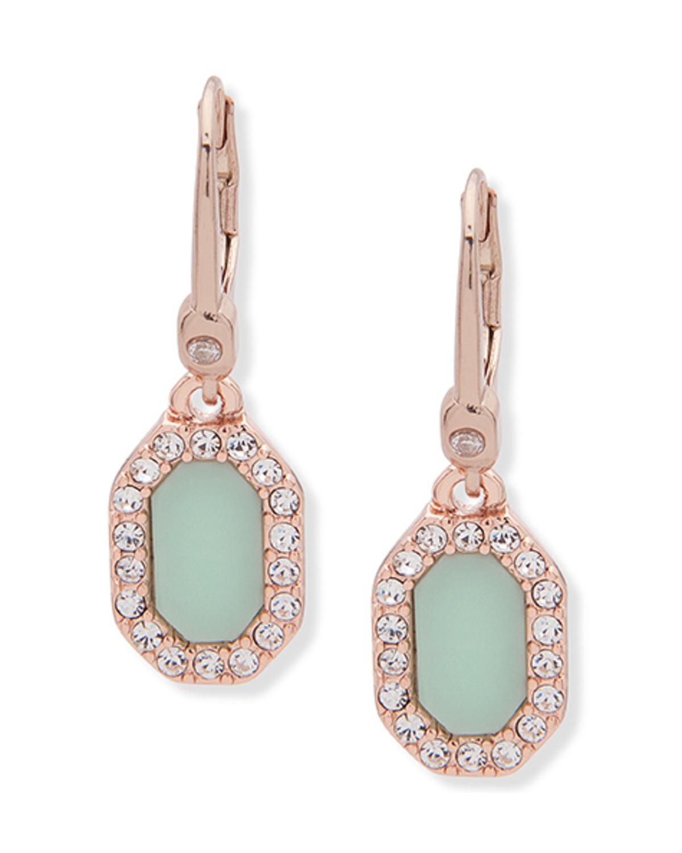 Sparkle Stone Earrings Rose Gold
