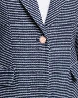 Classic blazer navy detail ivanka trump.