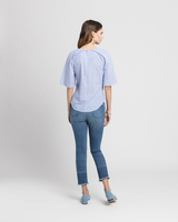 Cotton tunic blue back ivanka trump