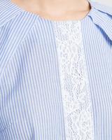 Cotton tunic blue detail ivanka trump