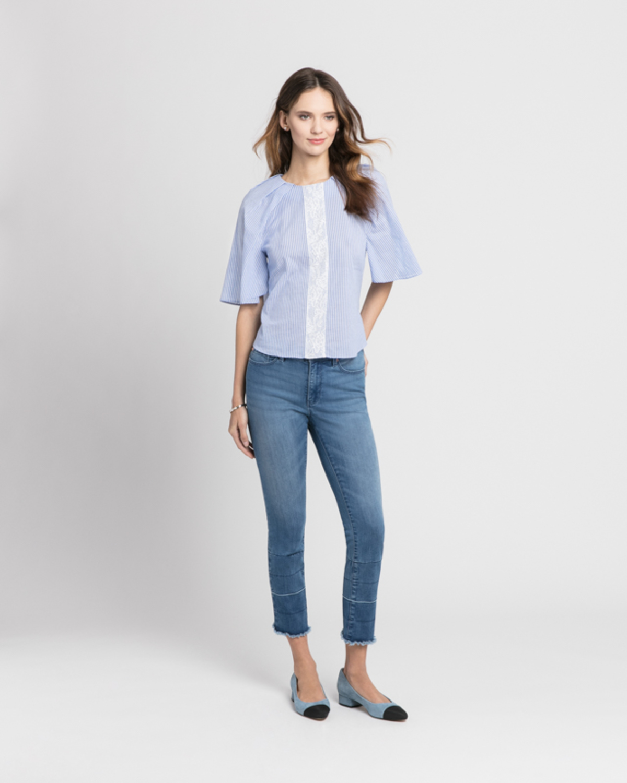 Cotton tunic blue front ivanka trump