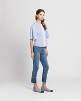 Cotton tunic blue side ivanka trump