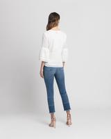 Eyelet trim blouse white back ivanka trump