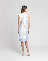 Tile print sheath dress multicolor back ivanka trump
