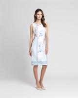 Tile print sheath dress multicolor front ivanka trump