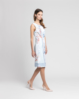 Tile print sheath dress multicolor side ivanka trump