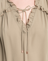 Ruffle trim blouse sage detail ivanka trump