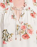 Ruffle v neck top multicolor detail ivanka trump