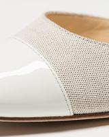 Liah 4 slingbacks beige white detail ivanka trump
