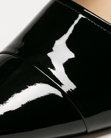 Yarle mules black patent leather detail ivanka trump