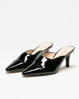 Yarle mules black patent leather front ivanka trump