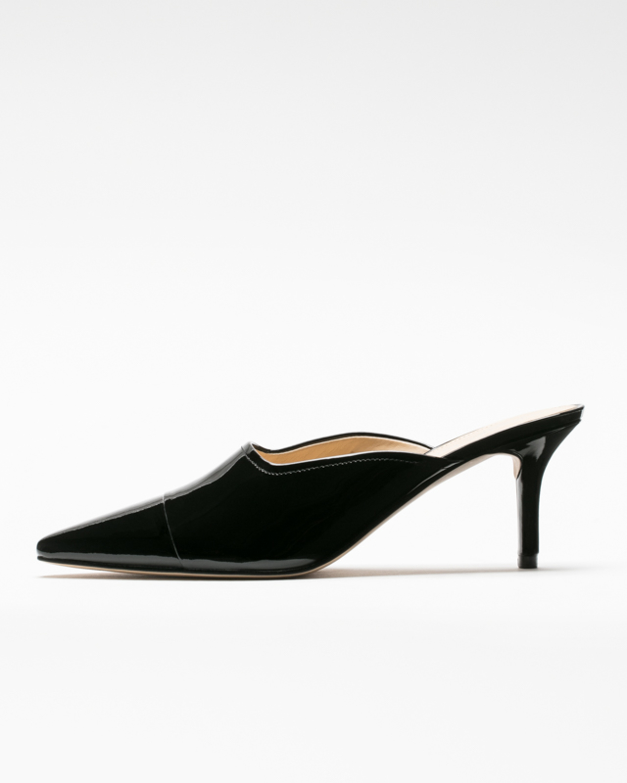 Yarle mules black patent leather side ivanka trump