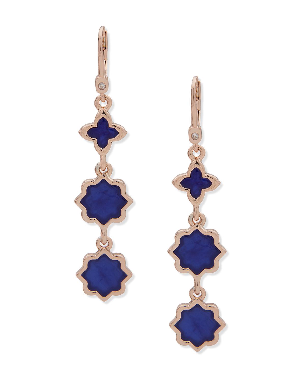Linear lapis earrings