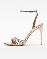 Holie sandals rose gold side ivanka trump